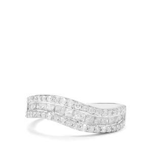 1ct Diamond 9K White Gold Tomas Rae Ring