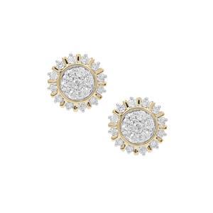 Russian VSi Diamond Earrings in 9K Gold 1cts