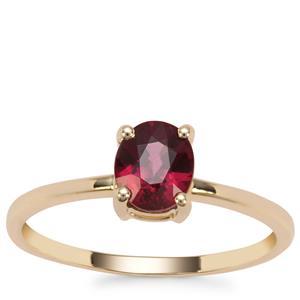Malawi Garnet Ring in 9K Gold 1.21cts