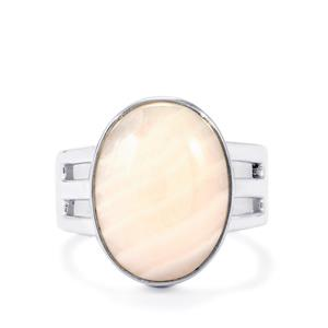 Pink Aragonite Ring in Sterling Silver 9cts