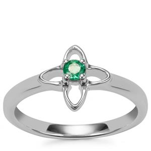 Zambian Emerald Ring in Sterling Silver 0.10cts