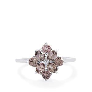 Mahenge Purple Spinel & White Sapphire 10K White Gold Ring ATGW 1.21cts