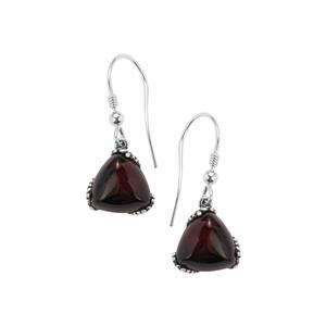 Baltic Cherry Amber Earrings in Sterling Silver (12mm)