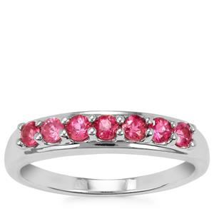 Cruzeiro Rubellite Ring in Sterling Silver 0.42cts