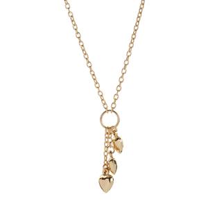 "17"" 9K Gold Altro Triple Heart Necklace 3.20g"