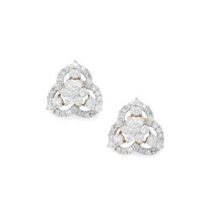 Diamond Earrings in 10K Gold 0.78ct