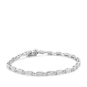 Diamond Bracelet in Platinum 950 2cts