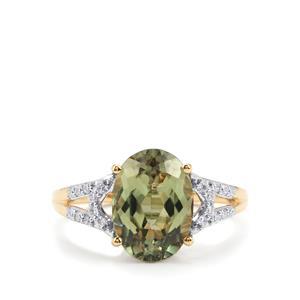 Csarite® & Diamond 18K Gold Lorique Ring MTGW 4.75cts
