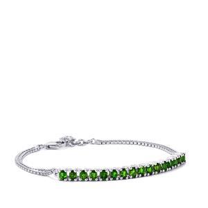 2.81ct Chrome Diopside Sterling Silver Bracelet