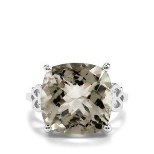 9.36ct Prasiolite Sterling Silver Ring