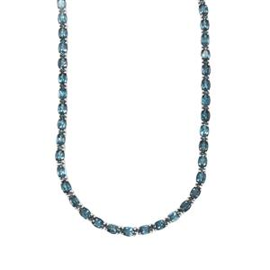 Marambaia London Blue Topaz Necklace in Sterling Silver 39.53cts