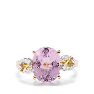Nuristan Kunzite & Diamond 18K Gold Tomas Rae Ring MTGW 4.71cts