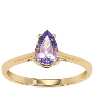 AA Tanzanite Ring in 9K Gold 1.04cts