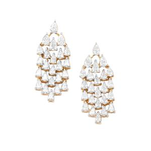 Diamond Earrings in 18K Gold 3.25cts