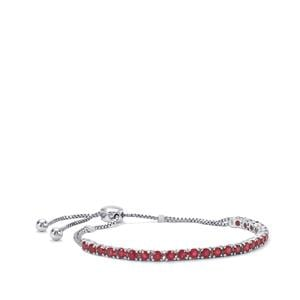 Malagasy Ruby Slider Bracelet in Sterling Silver 4.68cts (F)