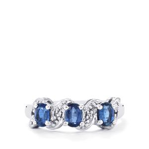 Daha Kyanite Ring with White Topaz in Sterling Silver 1.25cts
