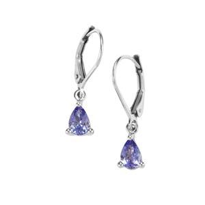 1.03ct Tanzanite Sterling Silver Earrings