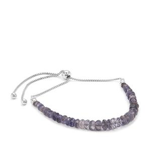 Bengal Iolite Graduated Inspired By Colour Slider Bracelet in Sterling Silver 12cts
