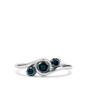 3/4ct Blue Diamond 9K White Gold Ring