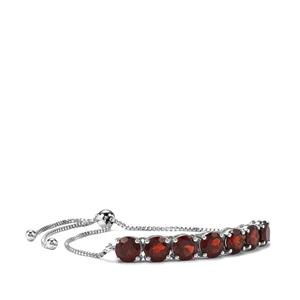 Rajasthan Garnet Slider Bracelet in Sterling Silver 6.91cts
