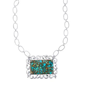 78.09ct Egyptian Turquoise Sterling Silver Necklace