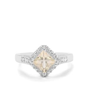 Serenite & White Zircon Sterling Silver Ring ATGW 1.11cts
