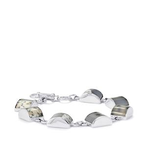 Turkish Dendrite Bracelet in Sterling Silver 46cts
