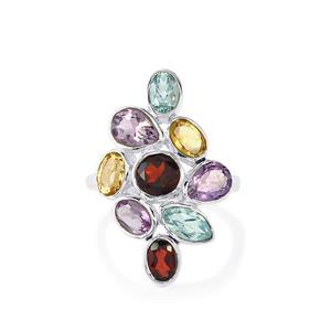 6ct Kaleidoscope Gemstones Sterling Silver Ring