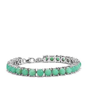 Prase Green Opal Bracelet in Sterling Silver 18.56cts