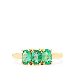 1.26ct Zambian Emerald 9K Gold Ring