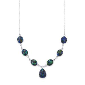 30.42ct Azure Malachite Sterling Silver Aryonna Necklace