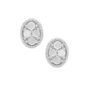 1/10 Diamond Sterling Silver Earrings