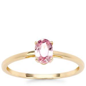 Sakaraha Pink Sapphire Ring in 10K Gold 0.60ct