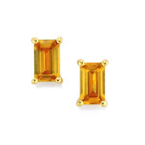 Morafeno Sphene Earrings in 9K Gold 0.67ct