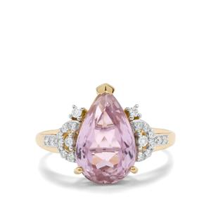 Mawi Kunzite & Diamond 18K Gold Lorique Ring MTGW 4.47cts