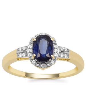 Nilamani Ring with White Zircon in 9K Gold 1.23cts