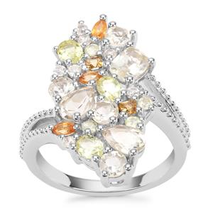 3.18ct Sunrise Sterling Silver Shades Ring