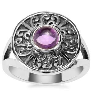 Kenyan Amethyst Ring in Sterling Silver 0.94ct
