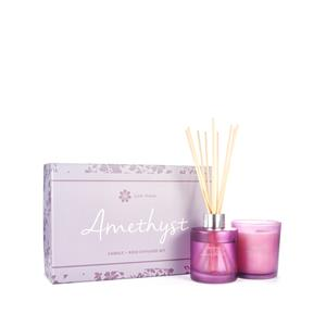 Amethyst Fragranced Candle and Reed Diffuser Christmas Set - ATGW 80cts