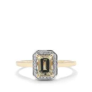 Csarite® Ring with White Zircon in 9K Gold 1.25cts