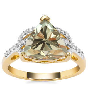 Csarite® Ring with Diamond in 18K Gold 3.48cts