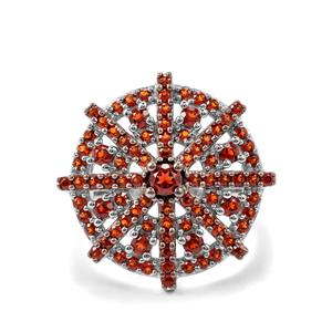 Anthill Garnet Ring in Sterling Silver 1.38cts