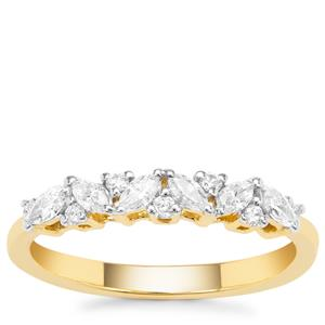Diamond Ring in 18K Gold 0.37cts
