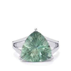 9.06ct Natural Tucson Green Fluorite Sterling Silver Ring