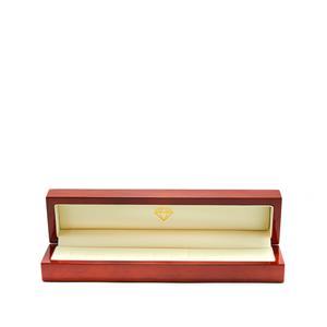 Polished Wooden Jewellery Box for 12 Rings