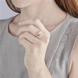 Zambezia Morganite Ring in 10k Gold 2.12cts