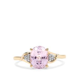 Mawi Kunzite & Diamond 9K Gold Ring ATGW 2.62cts