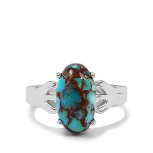 4.58ct Egyptian Turquoise Sterling Silver Ring