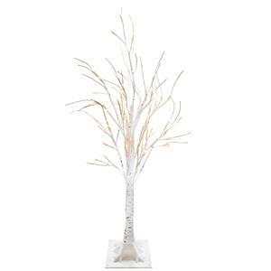 Gem Auras White LED Decorative Tree with 60 lights - 90cm