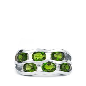 2.95ct Chrome Diopside Sterling Silver Ring